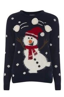 pull bonhomme de neige