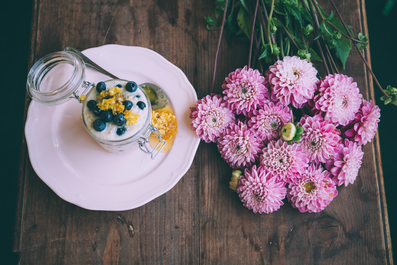 petit dejeuner fleuri